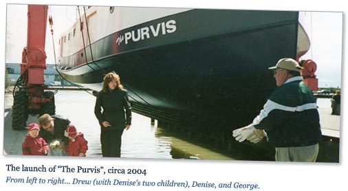 Photo: Launch of The Purvis, circa 2004.